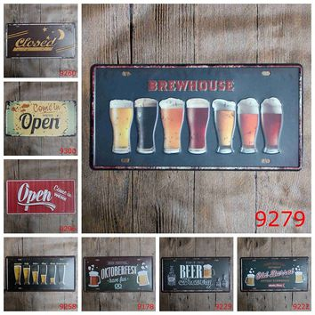 30x15cm Retro Metal Poster Wall Decor Tin Sign Wall Hanging Bar Cafe Home Decor