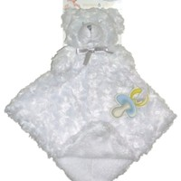 Blankets and Beyond White Baby Secuirty Blanket and Lovey, Lovies, Nunus