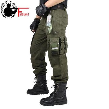 CARGO PANTS Overalls Men's Millitary Clothing TACTICAL PANTS MILITARY Knee Pad Male US Combat Camouflage Army Style Camo Trouser