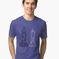 'King and Queen' Tri-blend T-Shirt by Manitarka