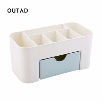 OUTAD Plastic Storage Cabinets Non-slip Bottom Small Drawer Storage Box Dressing case Small Things Organizer Desktop Boxes