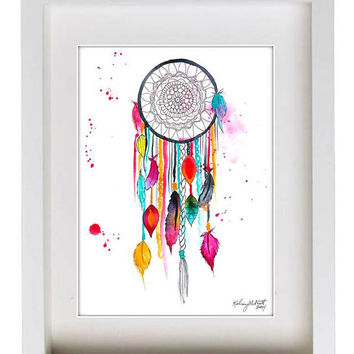 Best native american art paintings products on wanelo for Dream catcher spray painting