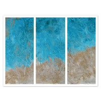 Abstract Beach Triptych Original textured paintings, Abstract art, Contemporary art, Fluid Acrylic by Holly Anderson