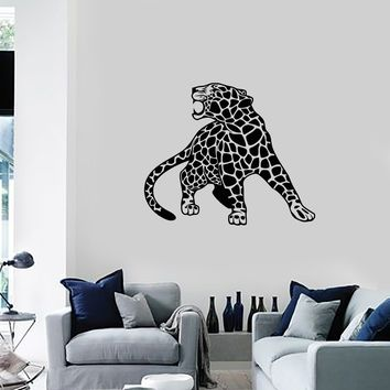 Vinyl Wall Decal Leopard Wild Animal Tribal Art Room Decor Home Interior Stickers Mural (ig5505)