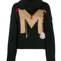 "Ladies ""M"" Design Roll Turtleneck Sweater by Moncler"
