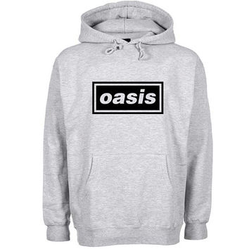 oasis Hoodie Sweatshirt Sweater Shirt Gray and beauty variant color for Unisex size