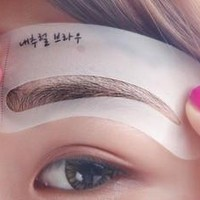 Women's Beauty Makeup Magic Eyebrow Drawing Shaping Stencil Card Built-in 3 Styles [8321353927]