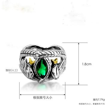 Hot The Lord of Rings Aragorn ring of Barahir LOTR wedding ring fashion men jewelry fan gift high quality Gift