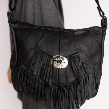 Cowgirl Fringed Leather Concho Purse