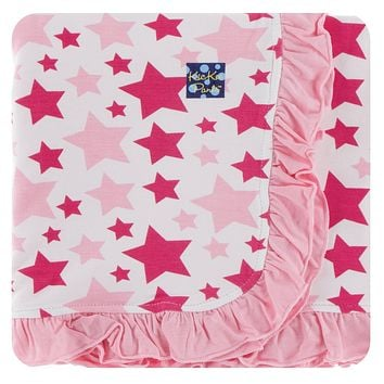 Kickee Pants Spring Anniversary Collection Print Ruffle Stroller Blanket
