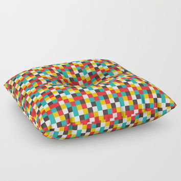 Pixel Tiles #2 Floor Pillow by anertek