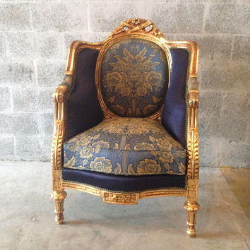 best reupholstered chair products on wanelo. Black Bedroom Furniture Sets. Home Design Ideas