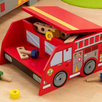 Fire Truck Step & Store Stool