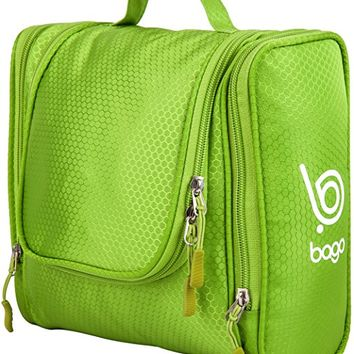 Bago Hanging Toiletries Kit Bag For Men & Women, Green