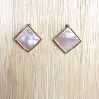 Abalone Square Stud Earrings
