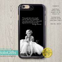Marilyn Monroe, iPhone 6 case, iPhone 6 Plus case, iPhone case, iPhone 5 case, iPhone 5S Case, Galaxy S5 S4 S3 Note 2 Note 3, A0315