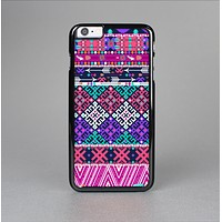The Pink & Teal Modern Colored Aztec Pattern Skin-Sert Case for the Apple iPhone 6