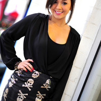 Beauty And The Stud Blouse: Black | Hope's