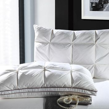 48*74cm White Color luxury Bread Style Rectangle Goose/Duck Down Bedding Pillows Down-proof Cotton fabric Soft Pillow