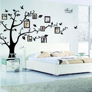 Family photo frame Flying Birds tree wall stickers arts home decorations