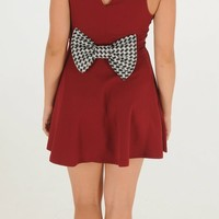 Talk Of The Tailgate Dress - Burgundy | Short Dress | Kiki LaRue Boutique