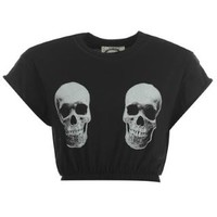 Skull Crop T Shirt Ladies