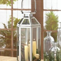 Stainless Steel Symmetry Candle Lantern Centerpiece