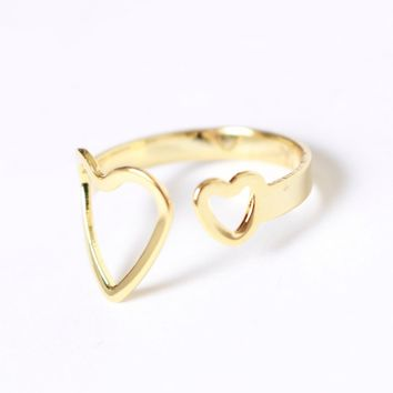 I Heart You Ring Gold