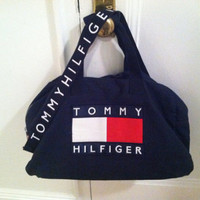 90s extra large Tommy Hilfiger duffle bag