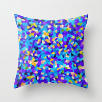Blooming Retro Throw Pillow by kasseggs