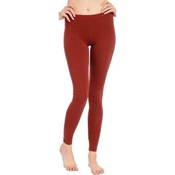Cotton Stretch Ankle Length Leggings