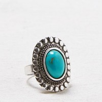 AEO Women's Turquoise Cocktail Ring (Silver)