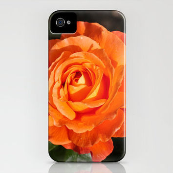 Orange Rose 6 iPhone Case by Steve Purnell | Society6