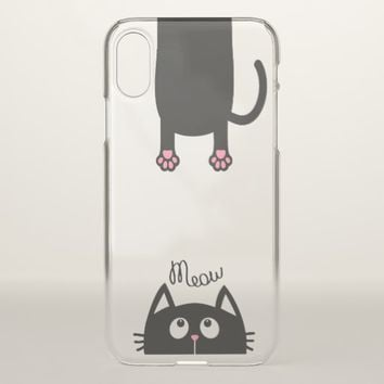 MEOW Apple iPhone X Clear Case