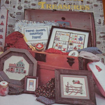 Cross Stitch Treasures Book 4 Patterns Craft Sewing Booklet Home Sweet Home