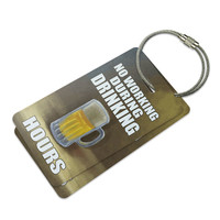 No Working During Drinking Hours Luggage Tag Set