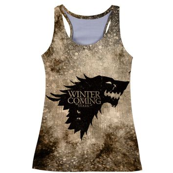 Game of Thrones top crop 3D Printed Fitness Tank Top