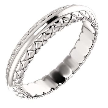 Matthew Woven Design Wedding Band