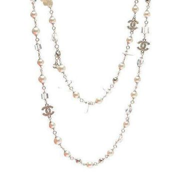 DCCKNQ2 Chanel Woman Fashion Logo Pearls Necklace For Best Gift-14