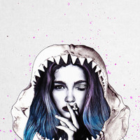 Cold Blood Art Print by Jenny Liz Rome