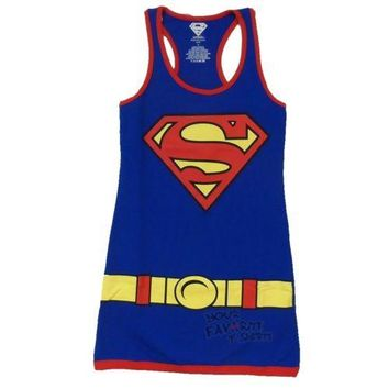 Superman Supergirl Character Costume DC Comics Tunic Tank Dress