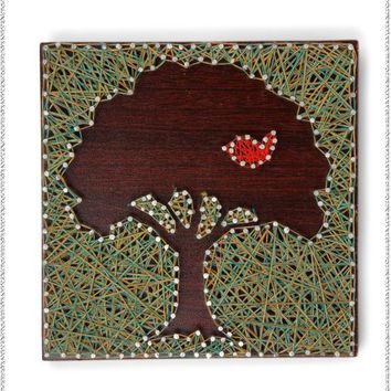 Tree & Bird String Wall Art