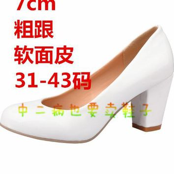 Re:Life In A Different World From Zero Emilia Anime Cosplay Costume lolita girls high heel shoes school uniform single shoes