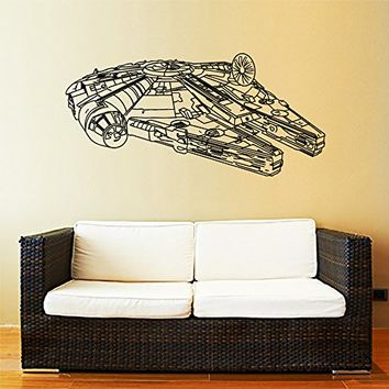 Millennium Falcon Wall Decal Vinyl Sticker Decals Star Wars Millennium Falcon Fighter Wall Decal Children Kids Nursery Bedroom Office Decor Window Dorm ZX202