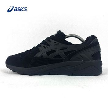 Asics Gel-Kayano Trainer Black Breathable Hard-wearing Running Shoes Light Weight Sport Sneakers for Women H5B0Y-9090 36-39