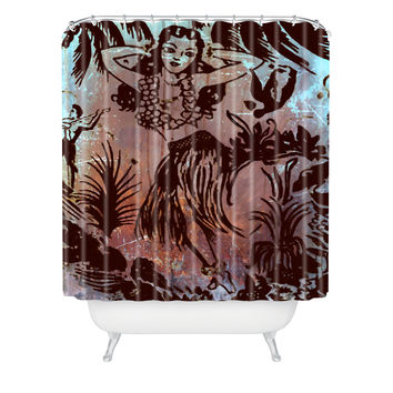 Deb Haugen Waialua Girl Shower Curtain