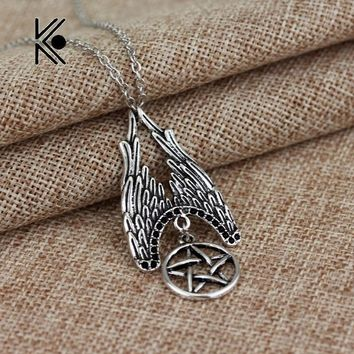 The Forces Of Evil Supernature Pentagram Talisman Cool Pendent Alloy Necklace Gift For Fans Fashion Jewelry Free Shipping