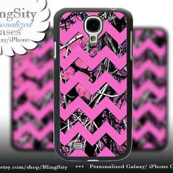 Camo Pink Chevron Samsung Galaxy S4 S5 case Hot Pink Purple Galaxy S3 Case / Note 2 3 Case real tree Monogram Personalized  Country Girl