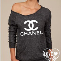 Chanel Classic Logo Slouchy Long Sleeve Sweater Eco Friendly