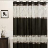 Maytex Marco Polyester Fabric Shower Curtain